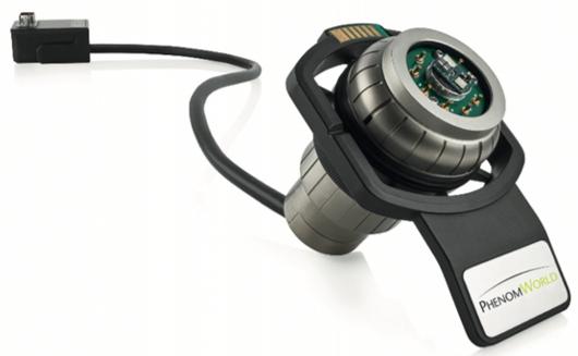 Porta-amostras com 6 conectores para envio e recolha de sinais