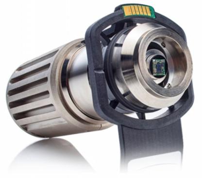 Porta-amostras com movimentos de rotação e inclinação motorizados