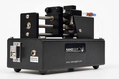 Bomba de seringa para nanosight