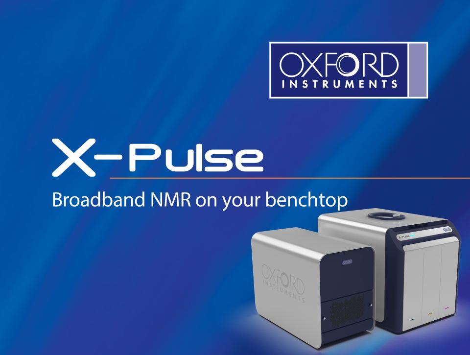 Novo equipamento NMR, X-pulse