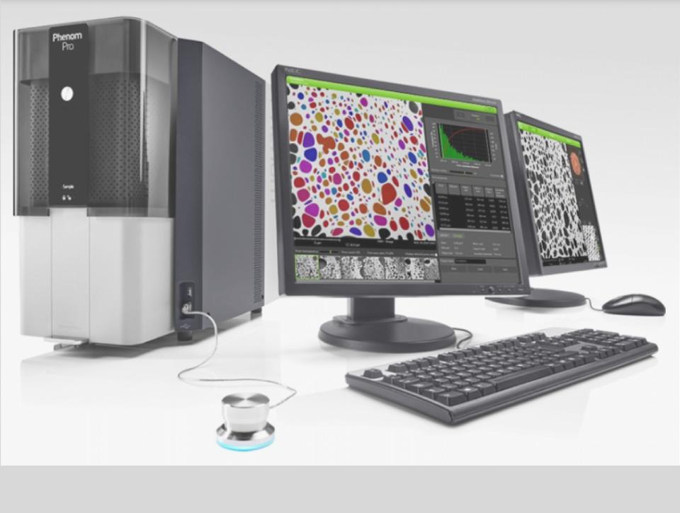 Software ParticleMetric do SEM Phenom